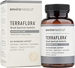 Enviromedica Terraflora Advanced Care SBO Probiotic + Prebiotic Supplement - a Soil Based Shelf Stable Bacillus Spore Synb...