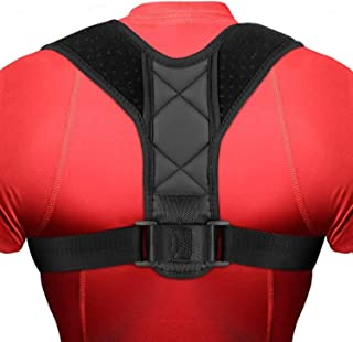 Back Posture Corrector for Men and Women, Adjustable Upper Back Brace Improve Posture-Clavicle Support Slouching & Hunchin...