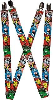 Buckle-Down Marvel Comics Suspenders - Avengers Superheroes Close-up Accessory