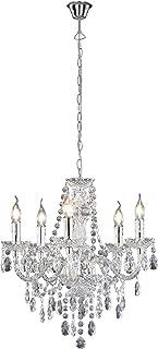 Reality Luster - Lámpara Colgante de 5 luces. Necesarias 5 bombillas E14 de máximo 40W excluidas. Acrílico transparente
