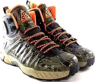 Nike Men's ACG Zoom Meriwether Posite Trail Boots. Size 7.5. Black/Total Orange-Bomb-Lagoon Green