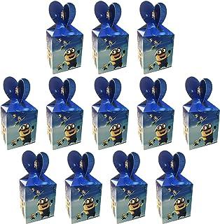 Qemsele Cajas De Fiesta Bolsas de cumpleaños, 12Pcs Regalo Cajas, Cajas de Caramelo Tema Reutilizable Bolsas de Fiesta Bolsas para cumpleaños niños la Fiesta favorece la Bolsa Bolsas Fiesta (Minions)
