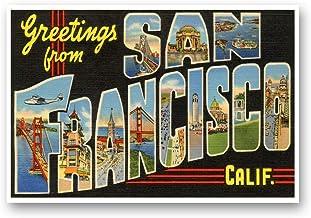 GREETINGS FROM SAN FRANCISCO, CA vintage reprint postcard set of 20 identical postcards. Large letter San Francisco, Calif...