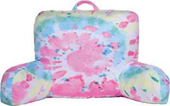 iscream Sherbert Swirl Tie Dye Silky Soft Plush Lounge and Reading Bed Support Pillow