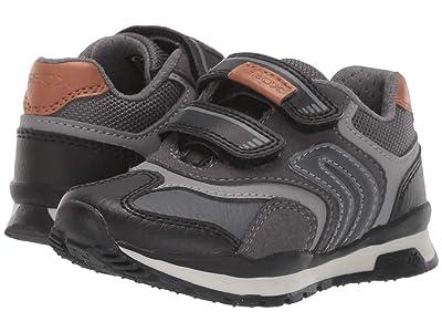 Geox Kids Jr Pavel 23 (Toddler) (Black/Charcoal 2) Boys Shoes