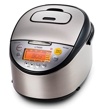 Tiger JKT-S18U 10-Cup (Uncooked) Multi Purpose IH Cooker (Rice Cooker, Synchro-Cooker, Slow Cooker, Bread Maker, etc.) with Tacook Cooking Plate