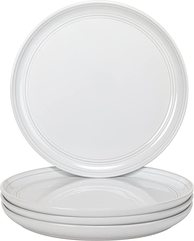 10 Strawberry Street Double Line White 8 25 Salad Plate Set Of 4
