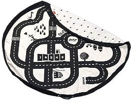play&go(プレイアンドゴー) 2in1おもちゃ収納バッグ & プレイマット ロードマップ 直径140㎝ 【PG9972】 プレイマット おもちゃ 収納 マット 片付け バッグ 遊びマット 赤ちゃん 道路 リバーシブル