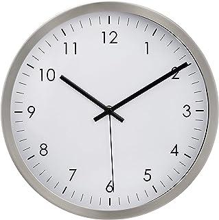 "AmazonBasics 12"" Traditional Wall Clock - Nickel"