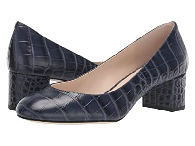 Cole Haan Lesli Pump 50 mm (Marine Blue Croc Print Leather) Women
