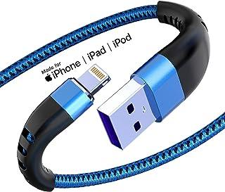 ライトニングケーブル 【iPhone対応/Apple MFi認証】 高耐久ナイロン製 アイフォン充電 Lightningケーブル 急速充電&データ転送 iPhone 12 / 12 Pro / 11 / SE(第2世代) iPad/Airpod...