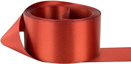Ribbon Bazaar Double Faced Satin 1-1/2 inch Rust 50 Yards 100% Polyester Ribbon