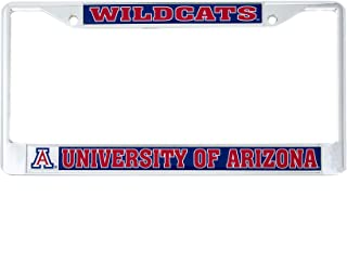 Desert Cactus University of Arizona Wildcats Metal License Plate Frame for Front Back of Car Officially Licensed UA (Mascot)