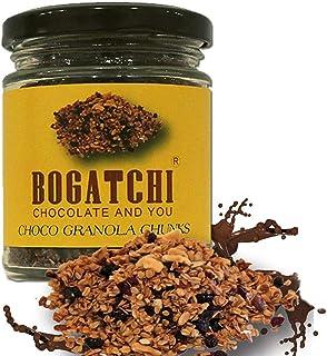 BOGATCHI Chocolate Granola Chunks - Gluten Free | Vegan | Snacks with Oats, , Cornflakes, Almonds, Honey, Cranberry, 100g