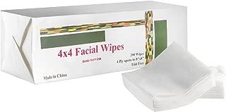 4x4 esthetic wipe nonwoven White 200/Pk 4ply lint free