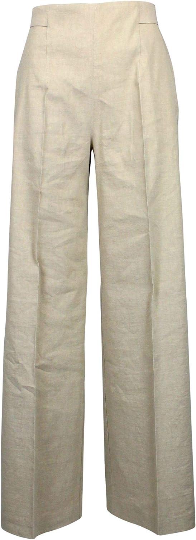 PINKO Women's 1B13JW7435C50 Beige Linen Pants