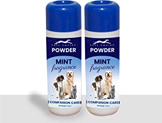 Pets Empire Dog Cat Pet Powder Mint Fragrance Companion Care Net Weight 150 gm (Pack of 2)
