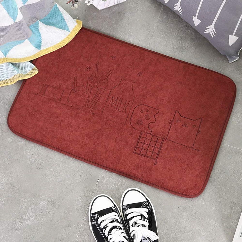 Door mat,Carpet Entrance mat Front Entrance Door mat Bathroom Non-Slip mat Household Pad Carpet Indoor Doormat-Brown 60x90cm(24x35inch)
