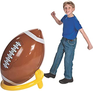 Fun Express Giant Inflatable 4ft. Vinyl Football & Tee Set | 2-Piece Set | Great Outdoor Kids Party Games
