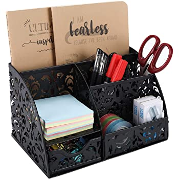 EasyPAG Office Accessories Desk Organizer Caddy with Drawer,Black