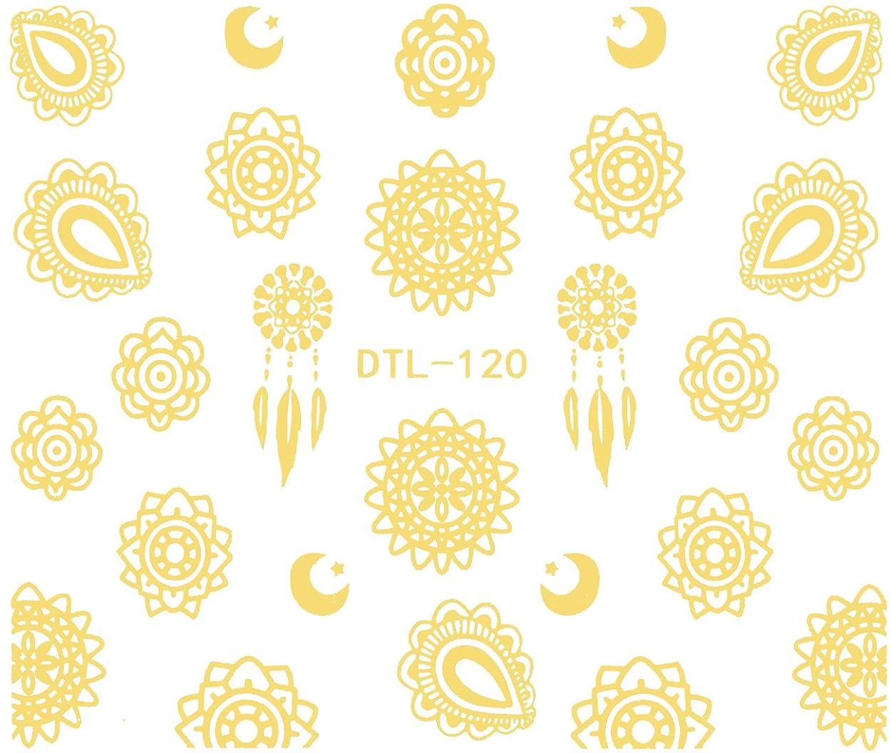 時計誓約徴収ネイルシール ネイティブ柄 選べる20種類 (ゴールドMG, 40)