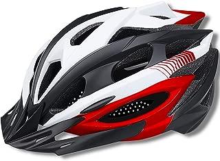 Mountain Bike Helmet Adult Bike Helmet Adjustable Road Cycling Bicycle Helmet Ultralight Detachable Visor Inner Padding Chin Protector and Rear LED Tail Light Adjust