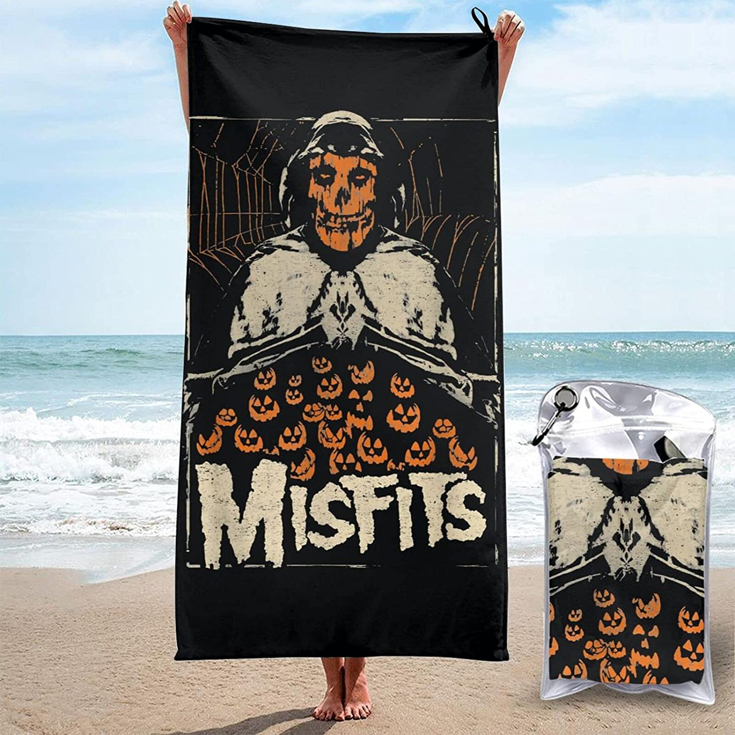 Misfits Elegant 3D Printed Large Beach Towels Max 47% OFF Sand-Free Quick-Dryin are
