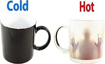 Moddan Fear The Walking Dead - Zombie Mug- Ceramic Heat Sensitive Color Changing Mug the Coffee Milk Hot Cold Heat Sensitive Color changing coffee Mug