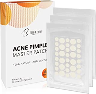 MayBeau Acne Cover, Hydrocolloid Acne Pimple Patch Spot Treatment Invisible Blemish Patches Stickers with Two Sizes (84 Patches, 3Pack)