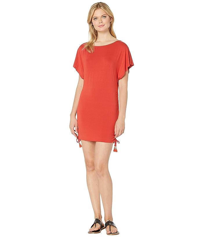 cab0921cef Lucky Brand Baja California Shirred Side Tunic Cover-Up (Cinnamon) Women