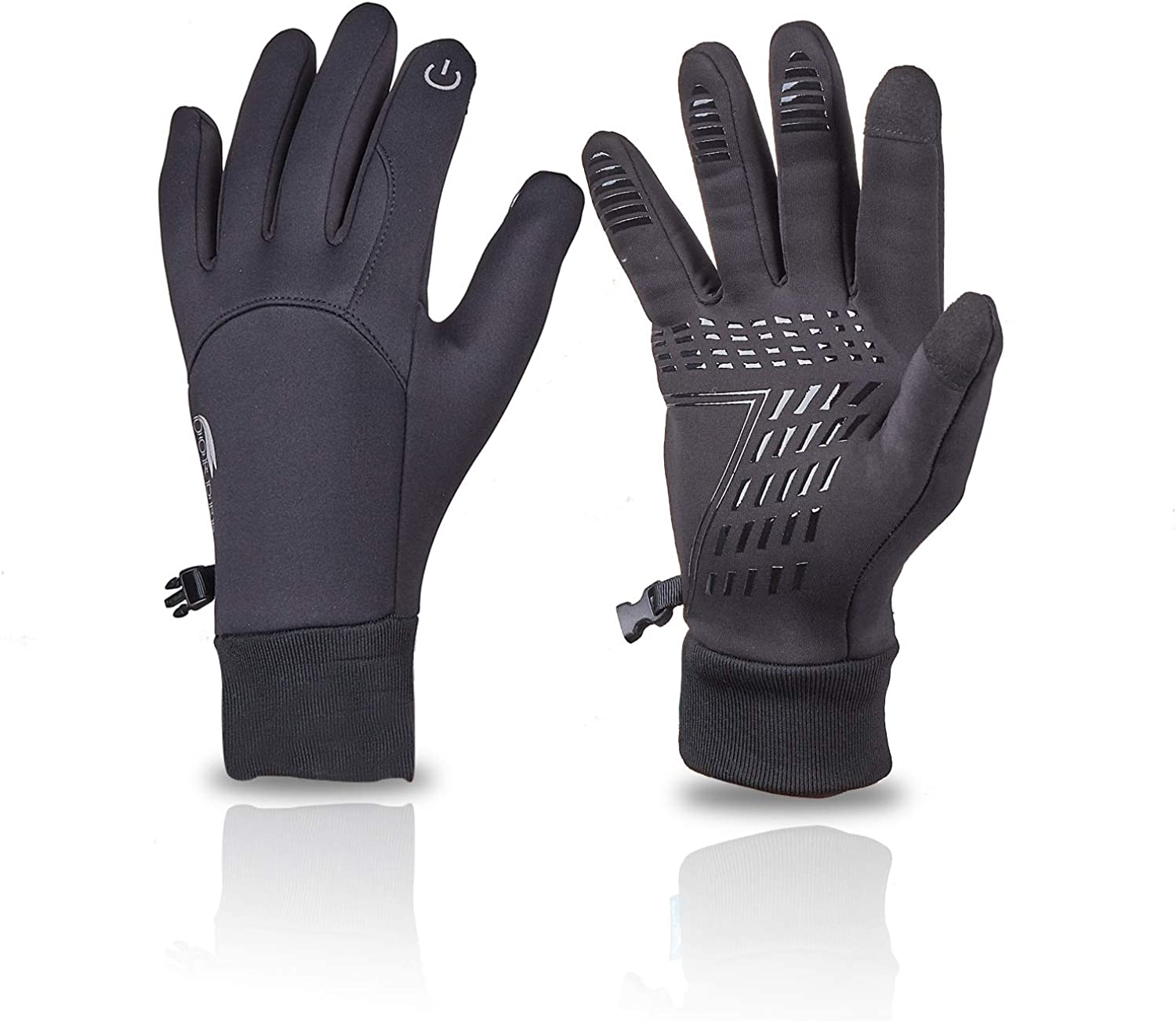 UWEIISON Cycling Gloves Warm Gloves Windproof Cold Weather gloves