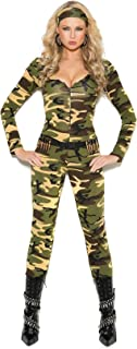 Ultimate Female Combat Warrior Halloween Roleplay Adult Costume 3pc Set