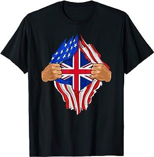 British Blood Inside Me Shirt | United Kingdom UK Flag Gift
