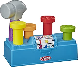 Playskool Tap 'n Spin Tool Bench Activity Toy Toolbox with Hammer for Toddlers 12 Months and Up (Amazon Exclusive)