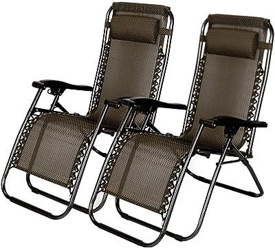 Amazon.com: DQChair - Juego de 2 sillas reclinables ...