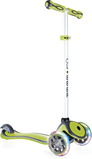 Globber -V2 3-Wheel Kids Kick Scooter - LED Light Up Wheels - Adjustable Height T-Bar - for Boys and Girls