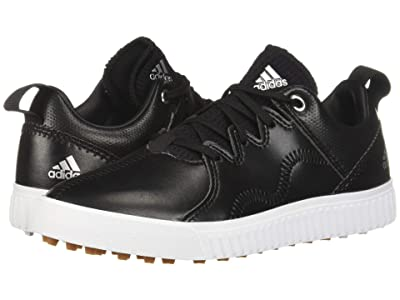 adidas Golf Jr. Adicross PPF (Little Kid/Big Kid) (Core Black/Silver Metallic/Gum) Men