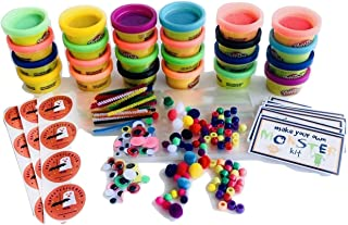 Make Your Own Monster Halloween Treat Bag Kit for Kids Class Parties - Play Doh Favors - Set of 24 for Entire Classroom