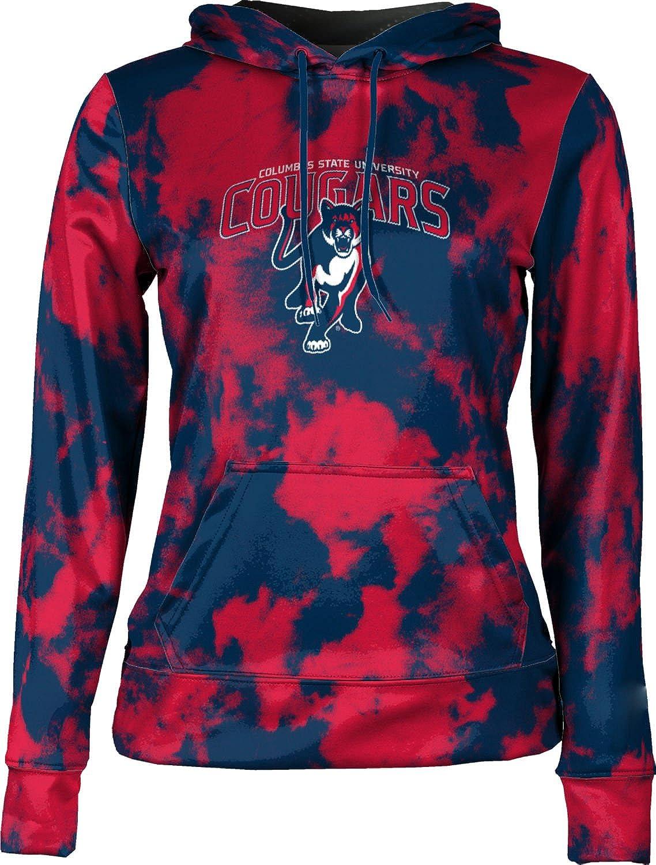 ProSphere Columbus State University Girls' Pullover Hoodie, School Spirit Sweatshirt (Grunge)
