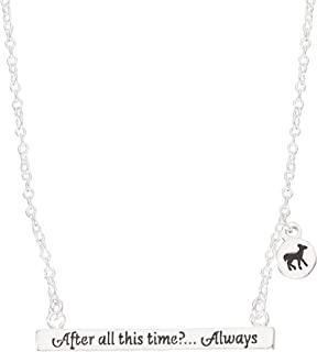Silver Plated Bar Necklace, 18