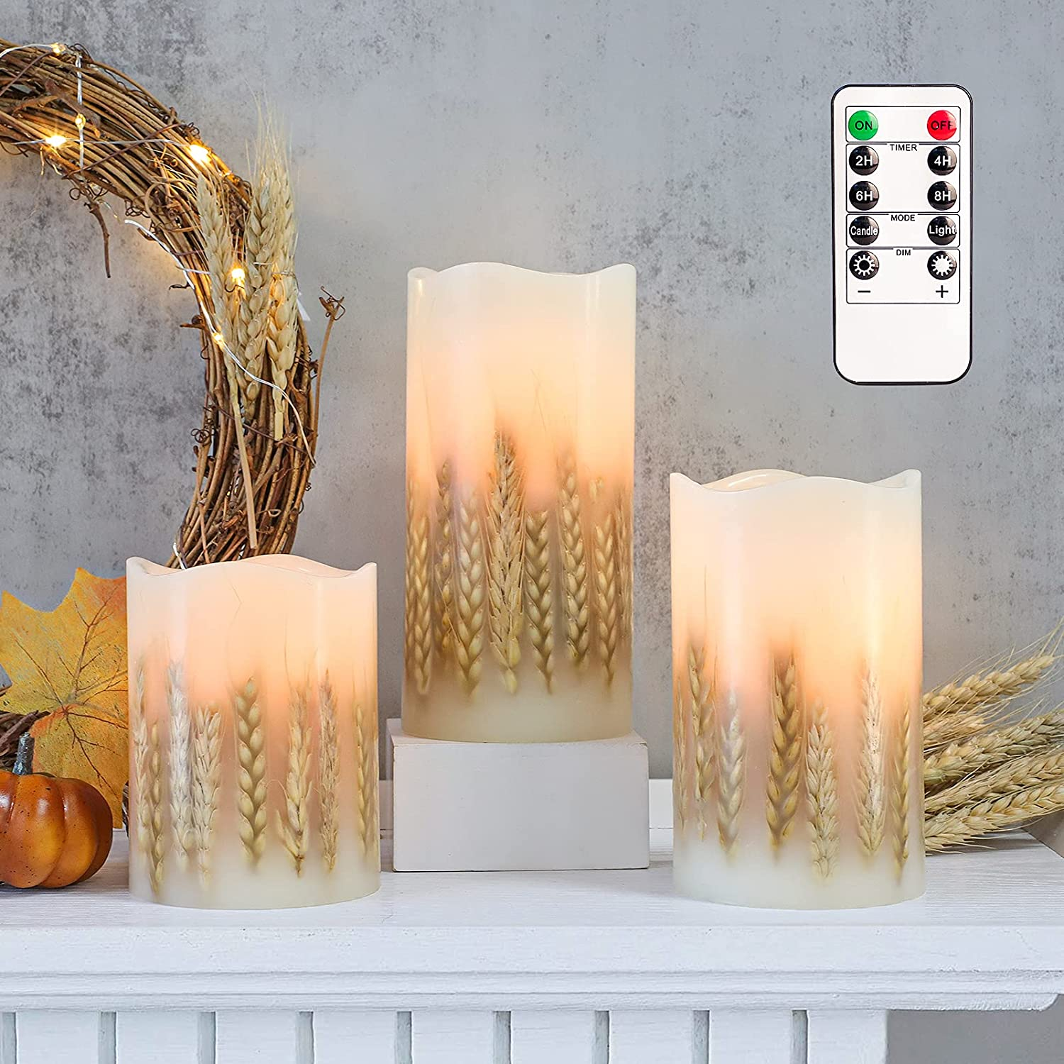 FLAVCHARM Farmhouse Sales of SALE items from new works LED Flameless Real Wax Choice Candles Flickeri