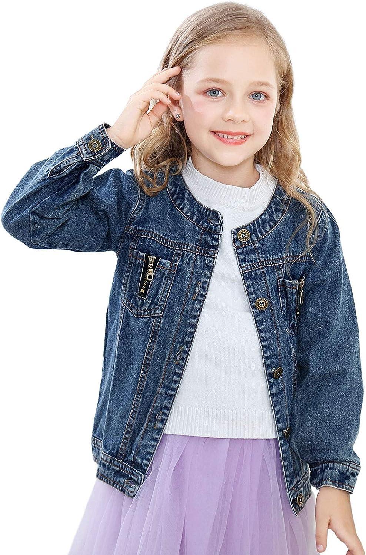 Kids Jean Jacket Toddler Girls Spring Denim Jackets Lace Outwear Cowboy Overcoat