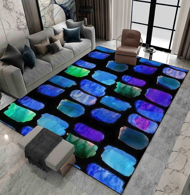 Area Rug Direct sale of manufacturer Non-Slip Cheap bargain Floor Mat Watercolor Creative Pattern Seamless