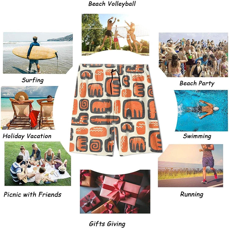 Bright Prairie Animals Teen Boys Quick Dry Surf Swim Trunk Novelty Youth Summer Beach Board Shorts