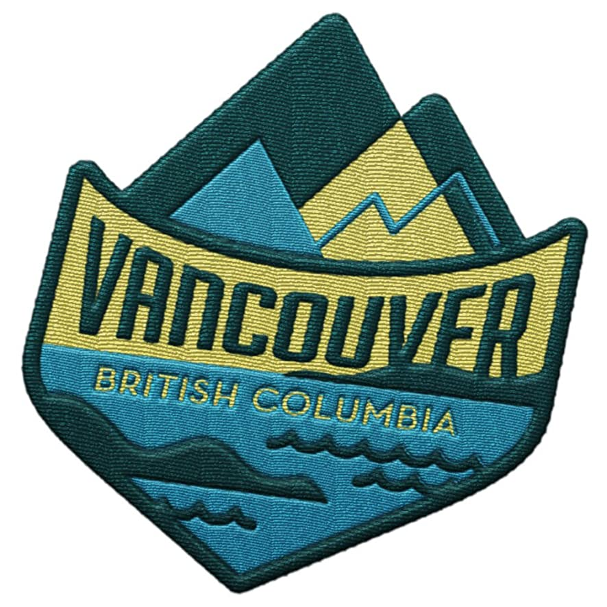 Vancouver British Columbia Travel Patch - Ocean and Mountains / Great souvenir for backpacks and luggage / Backpacking and travelling badge. r6801071694