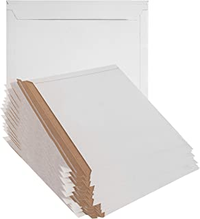 25 Pack Mailjackets Rigid Mailers 12.5 x 9.5. Large Paperboard Envelopes 12 1/2 x 9 1/2 long size opening. Stay flat, cardboard, corrugated, fiberboard, no bend mailers. Peel and Seal. Wholesale price
