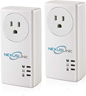 NexusLink Powerline G.hn Powerline Adapter | Pass-Through Outlet | 1200Mbps | 2-Unit Kit | (GPL-1200PT-KIT)