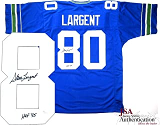 Steve Largent Autographed/Signed Seattle Throwback Custom Home Jersey with