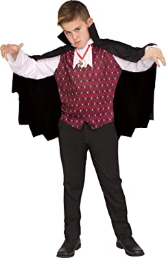 Fun World Vampire Costume, Medium 8 - 10, Multicolor