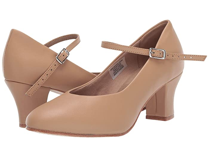 Retro Vintage Style Wide Shoes Bloch Diva Tan Womens Dance Shoes $36.57 AT vintagedancer.com